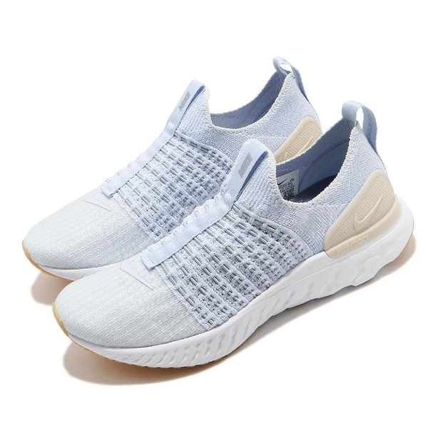 Nike 慢跑鞋 React Phantom Run FK 2 藍 米白 女鞋 運動鞋【ACS】 CJ0280-400