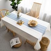 桌布 現代簡約茶幾餐桌布藝棉麻長方形北歐ins桌布防水防油污台布【寶媽優品】