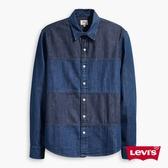 Levis 牛仔襯衫 男裝 / 休閒版型 / 無口袋 / 雙色拼接
