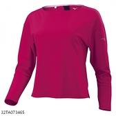 Mizuno T Shirt [32TA073465] 女 長袖 T恤 進口 發熱材質 舒適 運動 休閒 桃紅