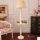歐式美式田園實用茶幾桌落地燈 小桌子客廳燈 混搭創意床頭燈臥室