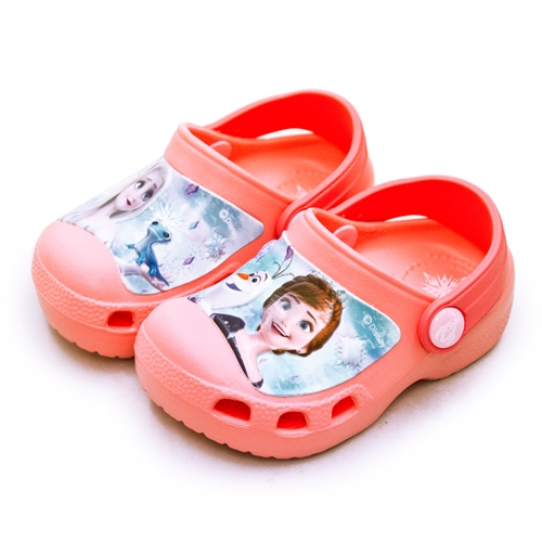 LIKA夢 Disney 迪士尼 15cm-20cm 冰雪奇緣 FROZEN 2 輕量兒童涼鞋 台灣製造 蜜桃橘 04712 中童