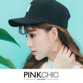 耳環金屬大愛心耳環耳飾配飾 飾品PINK CHIC 35304