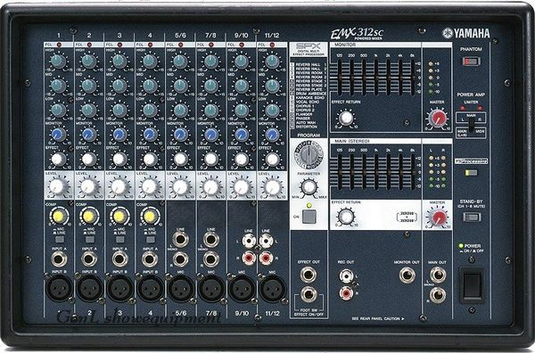【金聲樂器】全新 YAMAHA EMX 312 SC / EMX-312SC 功率混音器