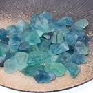 天然水晶原石毛料藍綠色螢石原石