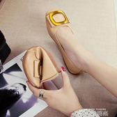 社會女鞋子春季新款韓版百搭平底鞋一腳蹬夏淺口單鞋女豆豆鞋