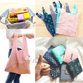 環保限塑超實用 加厚加大防水牛津布環保袋 購物袋 可背可提 折疊收納 baggu