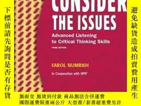 二手書博民逛書店Consider罕見The Issues (3rd Edition)Y255562 Carol Numrich