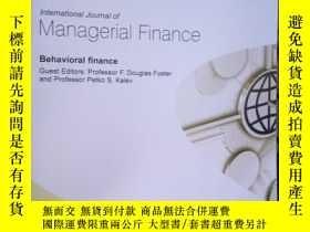 二手書博民逛書店International罕見Journal of Manage