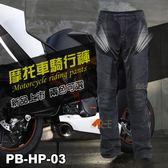 【Riding Tribe】夏季牛仔防摔褲 網布透氣 彈性牛仔布 重機/摩托車/賽車 ICON可參考 PB-HP-03