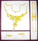 9999純金 黃金 墜飾 黃金禮盒 花朵 墜飾 墜子 項鍊 套鍊 結婚 套組 戒指 耳環 手鍊 長項鍊