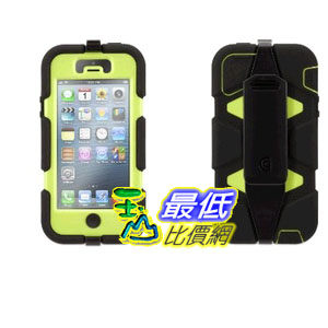 [103 美國直購] Griffin GB35681 Survivor Case for iPhone 5/5S Retail Packaging - Black/Lime 手機殼