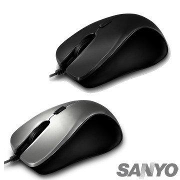 SANYO三洋  SYMS-M26 USB可調DPI光學滑鼠