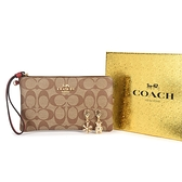 COACH新款大手拿包雙吊飾禮盒組198449