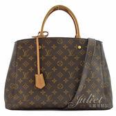 茱麗葉精品 二手精品 【9成新】Louis Vuitton M41067 Montaigne GM 經典花紋兩用仕女包