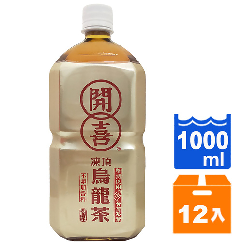 開喜凍頂烏龍茶-清甜1000ml(12入)/箱【康鄰超市】