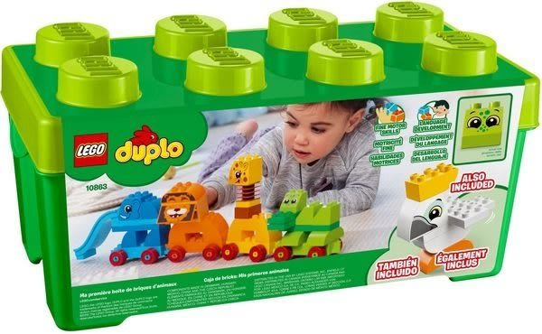 【LEGO樂高】DUPLO 我的第一個動物顆粒盒 10863