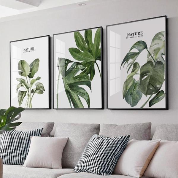 客廳裝飾畫現代簡約沙發背景墻壁畫北歐風三聯掛畫【聚寶屋】