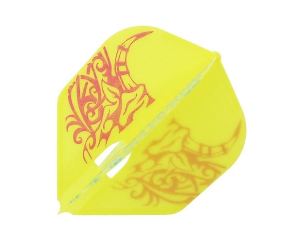 【L-Flight x BULLS FIGHTER】PRO Original Flight Shape Yellow 鏢翼 DARTS