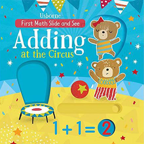 First Maths Slide And See Adding At The Circus 第一本算數書:加法篇 硬頁推拉書