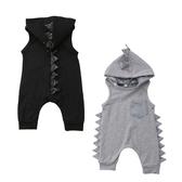 恐龍無袖肩扣連身衣 帽子可拆 連身衣 爬服 童裝 小童 男童 嬰兒 寶寶 新生兒 橘魔法 現貨 童裝