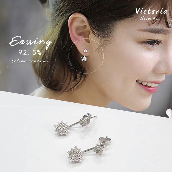 S925純銀 高貴典雅設浪漫風格,經典華麗款耳環-維多利亞160830