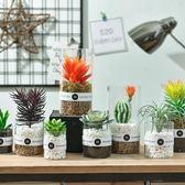 北歐植物盆栽裝飾擺件仿真多肉綠植ins家居客廳室內假花盆景擺設 小巨蛋之家