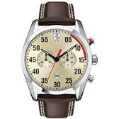 FERRARI Formula Italia 分秒必爭計時尚皮帶腕錶/0830174