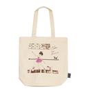 《Shinzi Katoh 加藤真治》芭蕾女孩帆布手提袋★funbox生活用品★_ZI02891