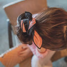 髮帶 質感麂皮雙面兔耳朵髮帶【O3190】☆雙兒網☆