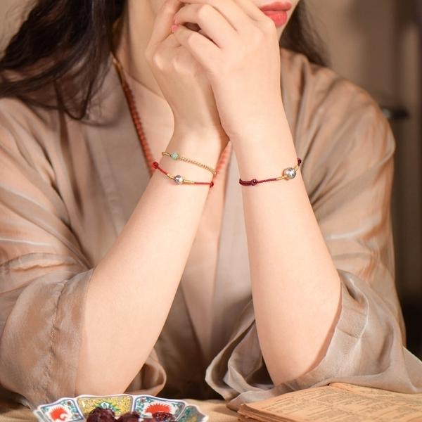 925純銀手鍊-轉運珠-守護六字真言復古男女手繩2色73yl2[時尚巴黎]