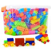 年終享好禮 兒童塑料寶寶積木1-2幼兒園7-8-10益智模型拼裝拼插男孩3-6歲玩具