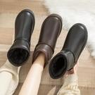 雪地靴女短筒面包鞋加厚棉鞋女冬加絨靴子【繁星小鎮】