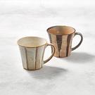 日本美濃燒 - 寬耳馬克杯 - 對杯組(2件式)