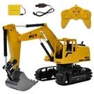遙控挖掘機玩具車合金挖掘機無線男孩挖土機兒童充電動大號工程車  野外俱樂部