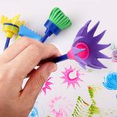 【BlueCat】兒童繪畫海綿小掃把4件組 塗鴉彩繪