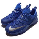 Nike 籃球鞋 LeBron XIII Low EP 藍 銀 氣墊 低筒球鞋 運動鞋 男鞋【PUMP306】 831926-400