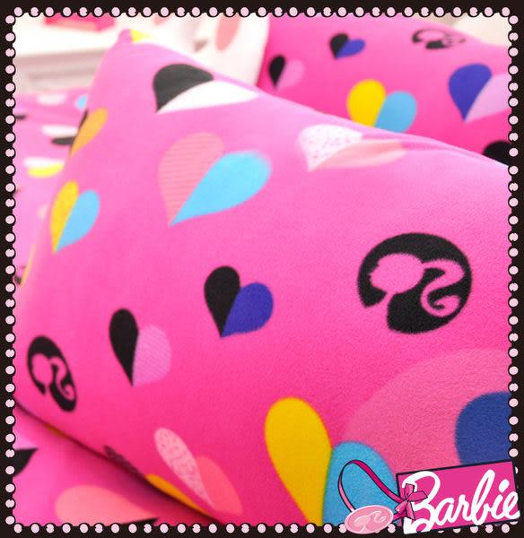 【Barbie】電音心派對-雪芙絨雙人床包三件組《Born to be a STAR《甜粉》》