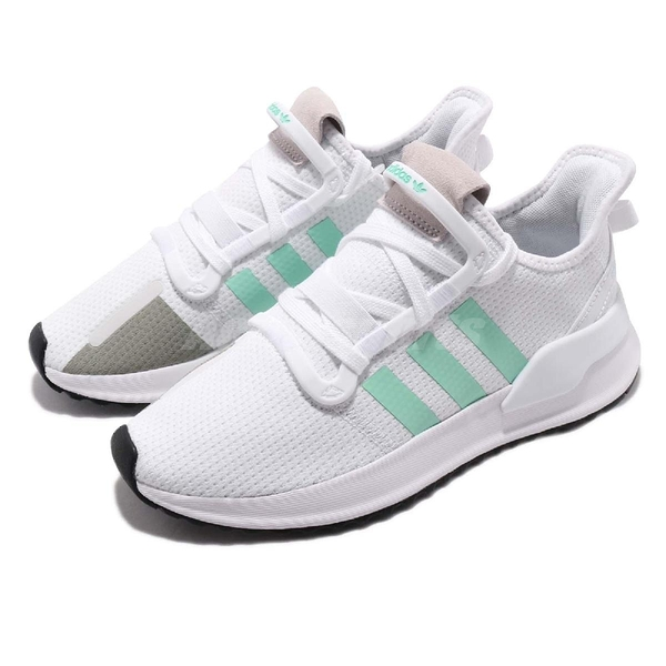 adidas 休閒鞋 U_Path Run W 白 綠 女鞋 襪套式 復古慢跑鞋 運動鞋 【PUMP306】 G27649