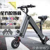 超輕便兩輪折疊式電動車成人電瓶車代步迷你小型鋰電池電動自行車 igo 全館免運