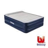 【南紡購物中心】Bestway。高級自動快充植絨雙人加大充氣床(灰/藍)67691E