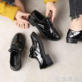 英倫風春季復古新款黑色潮秋百搭學生韓版ulzzang小皮鞋女