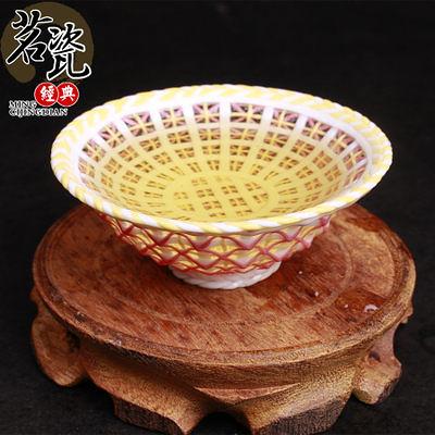 手工編織彩色玲瓏茶具