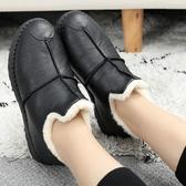 棉鞋女冬加絨一腳蹬軟底防水老北京布鞋防滑保暖媽媽女鞋老人鞋 創時代3c館