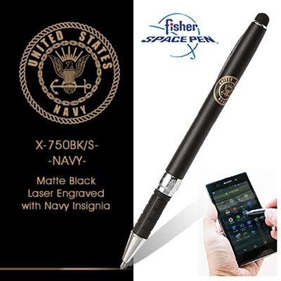 Fisher Stylus Space Pens 觸控兩用筆-霧黑色#X750BK/S-NAVY 霧黑色【AH02166】i-Style居家生活