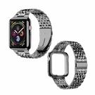 MioHHR 不銹鋼錶帶 42/44mm 適用Apple Watch Series 6/SE/5/4/3/2/1型 黑/玫瑰金/灰/銀 _Z21 [9美國直購]