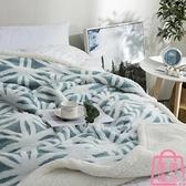 小毛毯蓋毯羊羔絨毯子雙層加厚珊瑚絨午睡毯毛毯【匯美優品】
