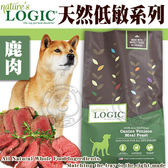 【zoo寵物商城】美國Nature自然邏輯》狗糧鹿肉滋養強健配方6.97kg15.4磅/包送睡墊