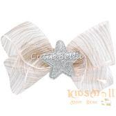 Cutie Bella星星歐根紗蝴蝶結全包布手工髮夾-Lace Glass Star Bow-Caramel