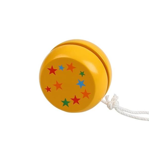 悠悠球 福孩兒木制益智幼兒童卡通溜溜球男孩女孩yoyo悠悠球寶寶小孩玩具 交換禮物